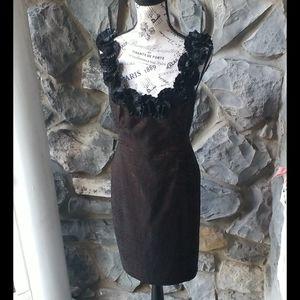 Maggy London Detailed Collar Dress